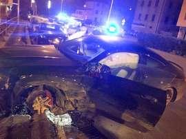 Defrel, victime d'un accident de la route. FOXSportsIT