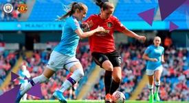 Un premier derby féminin de Manchester pour l'histoire. Twitter/ManCityWomen