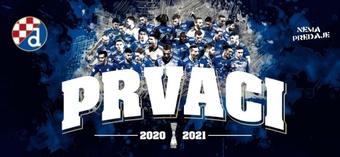 Le Dinamo Zagreb sacré champion de Croatie. afp