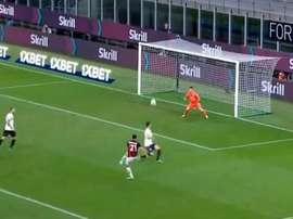 Ibrahimovic hizo su décimo gol en Liga. Captura/Vamos