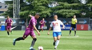 El Cartagena cayó derrotado por 1-0 ante el Rayo Majadahonda. Twitter/FCCartagena_efs