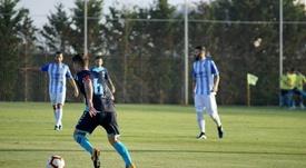 Lado marcó por partida doble para el Albacete. Twitter/AlbaceteBPSAD