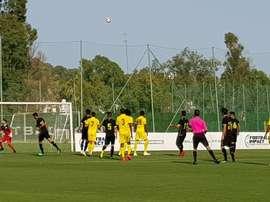 Casadesus y Canedo fueron los goleadores. Twitter/AD_Alcorcon