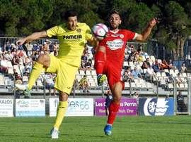 El Villarreal volvió a empatar a uno. Twitter/MontpellierHSC