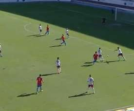 Imagen del encuentro entre el Jumilla y el Lorca en la Jornada 13 de Segunda División B 16-17. Canal7Murcia