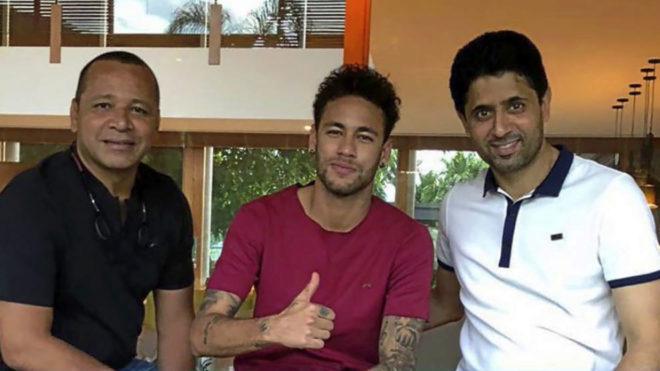 Al-Khelaifi travelled to Brazil. NeymarPai
