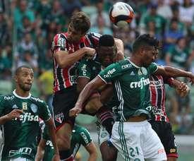 Palmeiras pasó por encima de Sao Paulo. SaoPaulo