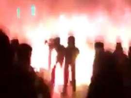 La policía consiguió disolver el tumulto. Captura/SC_ESPN