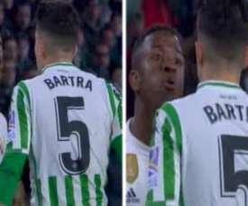 Bartra se estranhou com o brasileiro. Captura/beINSports