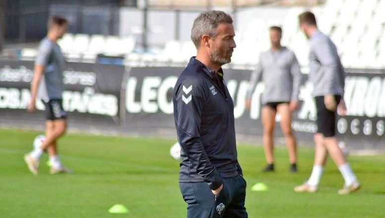 Óscar Cano hizo balance para EFE de sus 12 meses al frente del Castellón. Twitter/CD_Castellon