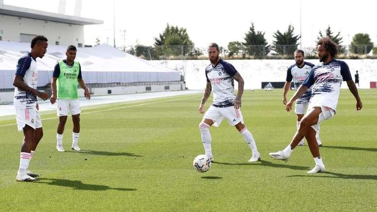 Real Madrid goleou o Getafe em jogo-treino da pré-temporada 2020-21. Twitter/RealMadrid