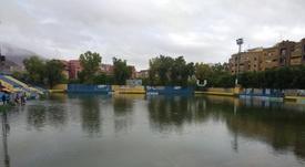 El Orihuela espera noticias de su estadio, devastado por las inundaciones. Twitter/OrihuelaCF