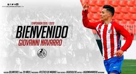 El Salamanca CF anuncia a Giovanni Navarro. SalamancaCFUDS