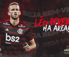 Leo Pereira has moved to Flamengo. Twitter/Flamengo