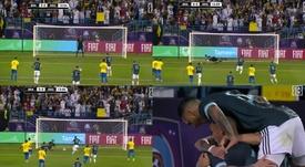 Messi ouvre le score pour l'Argentine. Captures/DAZN_ES