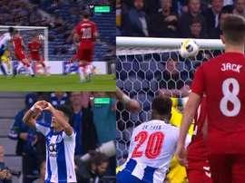 Luis Diaz scored a stunner to put Porto ahead. Captura/Movistar+