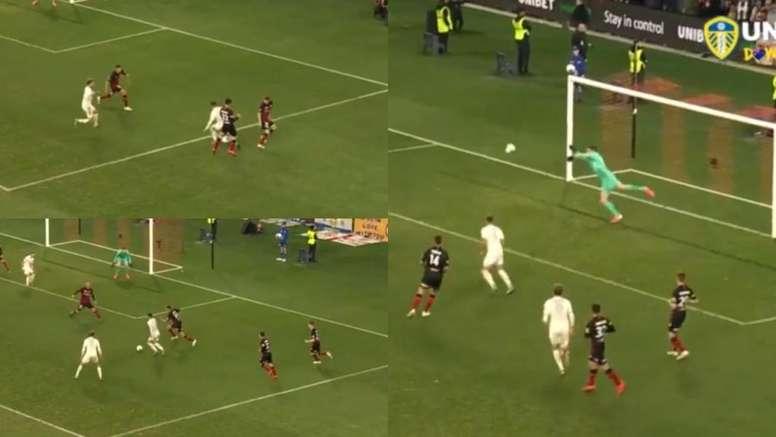 Pablo Hernández dio la victoria al Leeds. Captura/LeedsUnite