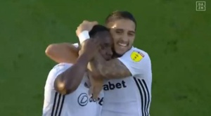 Fulham will face Brentford in the play-off final. Captura/DAZN