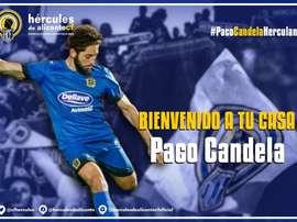 Paco Candela es el segundo fichaje del Hércules de este mercado invernal. Twitter