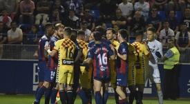 El Huesca-Nàstic podría acarrear un severo castigo a los clubes protagonistas. LaLiga/Archivo