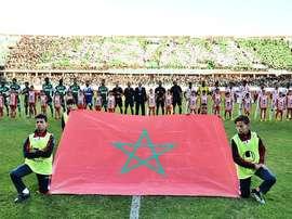 Imagen del inicio del partido entre el Raja Casablanca y el Agadir. Twitter