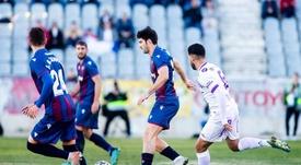 El Levante tuvo problemas en tierras andaluzas. Twitter/LevanteUD