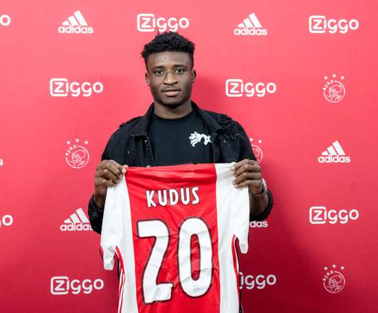 Mohammed Kudus has been signed by Ajax until 2025. Twitter/AFCAjax