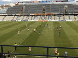 Melero, Moi Gómez y Camacho pusieron los goles oscenses. Twitter/SDHuesca