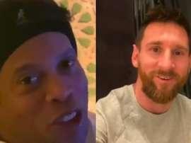 Las palabras de Ronaldinho desde Arabia con Messi. Captura/Turki_alalshikh