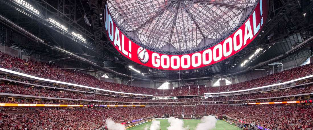 Atlanta overcame Philadelphia Union to secure a play-off spot. Twitter/ATLUTD