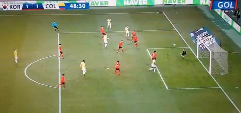 Son premier but avec la Colombie. Capture/GolCaracol