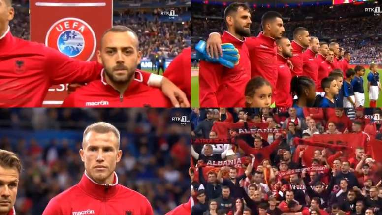 The FFF are in trouble with UEFA for playing the wrong anthem. Capturas/RTK1