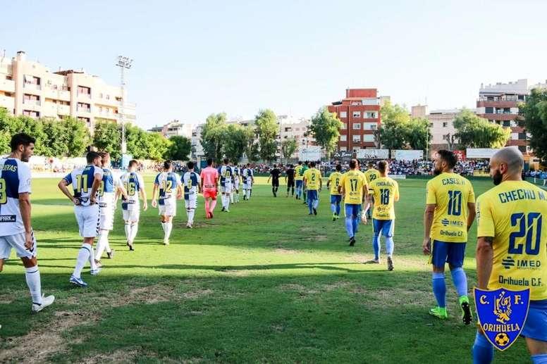 El Orihuela se enfrentará al Castellón. Twitter/Orihuela_CF