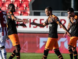 El Valencia venció al Sion con comodidad. ValenciaCF