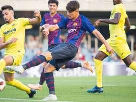 El Barça B empató en el minuto 95. Twitter/FCBarcelonaB