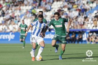 El Leganés consiguió su primera victoria en Liga tras el gol de Lazar. LaLiga