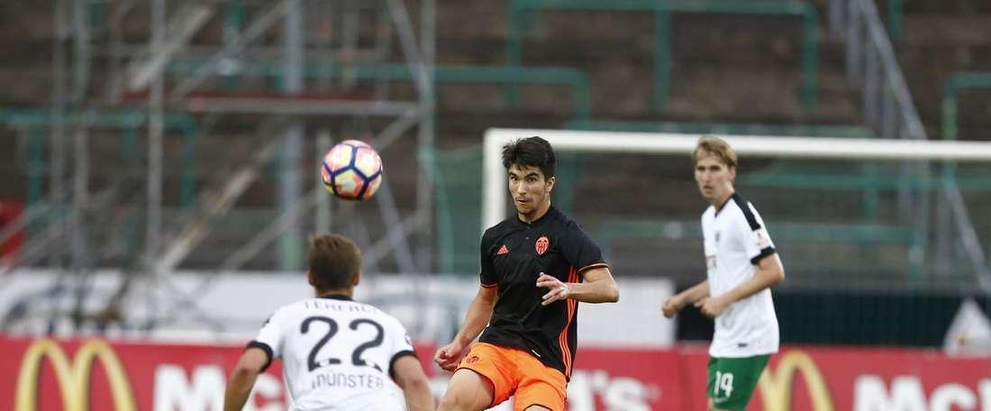 El encuentro se fue al descanso con empate a dos. ValenciaCF