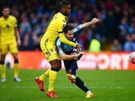 Imagen del partido entre Aston Villa y Wycombe. Twitter