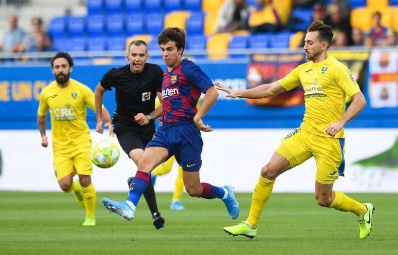 El Barça B se llevó una victoria que amarró en la primera parte. Twitter/FCBarcelonaB