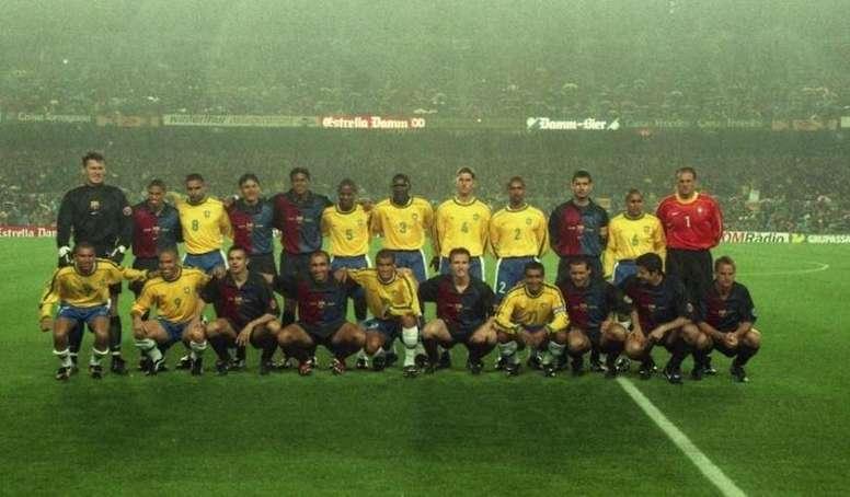 El Barcelona celebró su centenario midiéndose a Brasil. FCBarcelona
