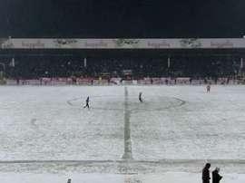 Imagen del partido entre el Boluspor y el Besiktas. Twitter