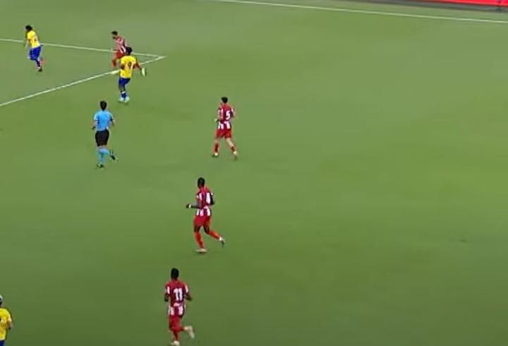 De Paul debutó con el Atlético. Youtube/GOL