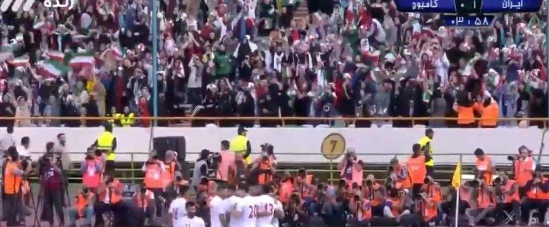 Il 'Messi iraniano' ha firmato una tripletta nella goleada rifilata alla Cambogia. Captura/CityTV