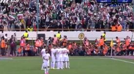 Exhibición de Irán para vencer a Camboya. Captura/CityTV