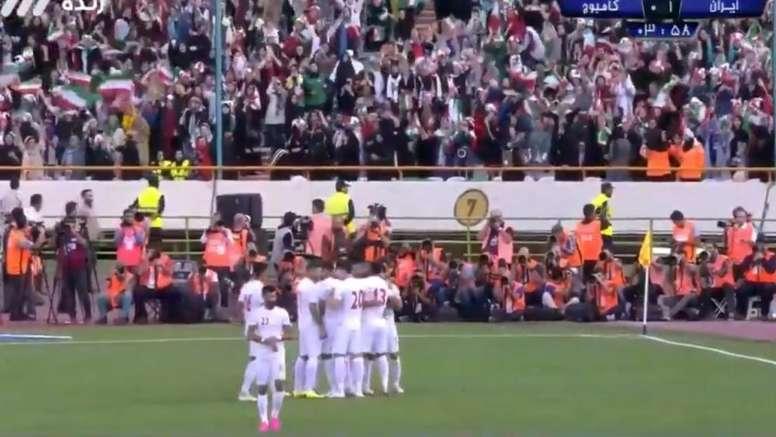 Le Messi iranien inscrit un triplé contre le Cambodge. Captura/CityTV