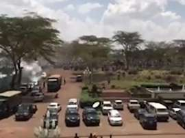 Los aficionados estaban causando disturbios. Captura/TheStarKenya