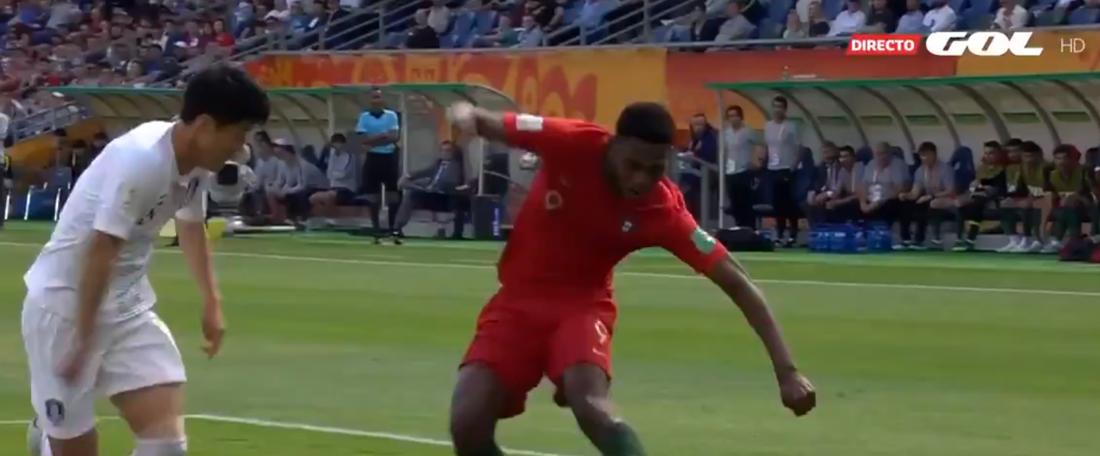Portugal começou com pé direito no Mundial Sub 20. Captura/GOL