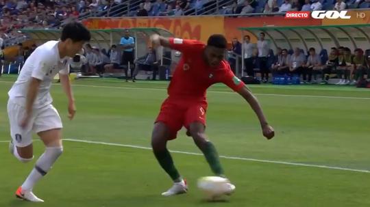 Le Portugal s'impose avec un unique but. Captura/GOL