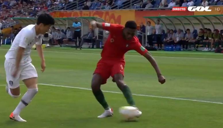 Portugal ganó por la mínima a Corea del Sur. Captura/GOL