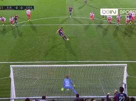 Imagen del penalti de Adrián ante el Granada. BeinSports